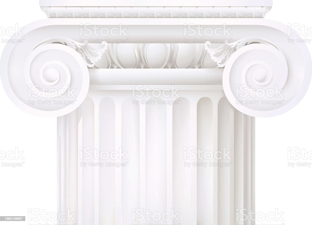 classic style column vector art illustration