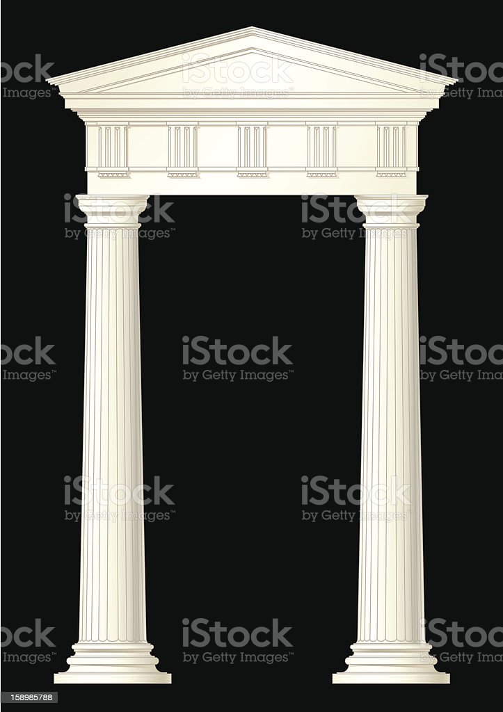 classic style front royalty-free stock vector art