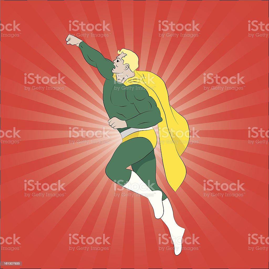 Classic Superhero royalty-free stock vector art