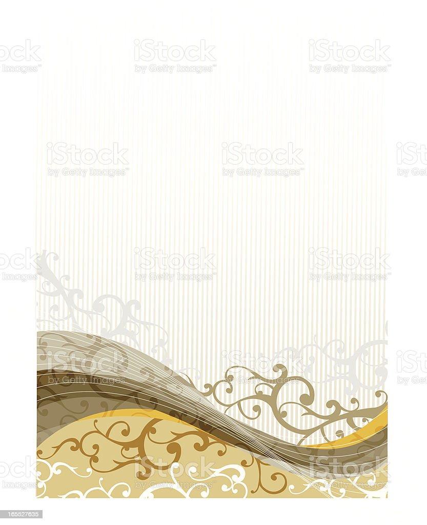 Classic swirl background design royalty-free stock vector art