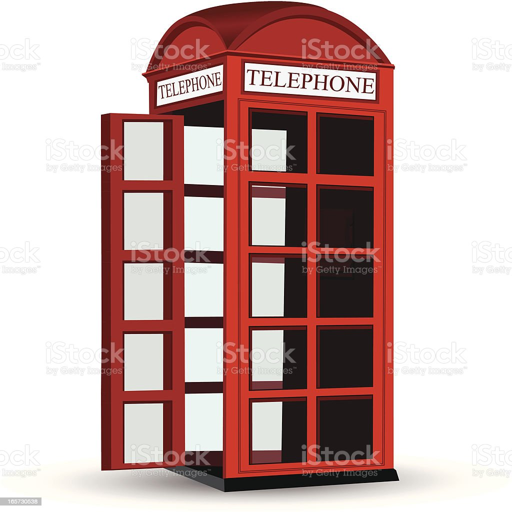 Classic Telephone Booth royalty-free stock vector art