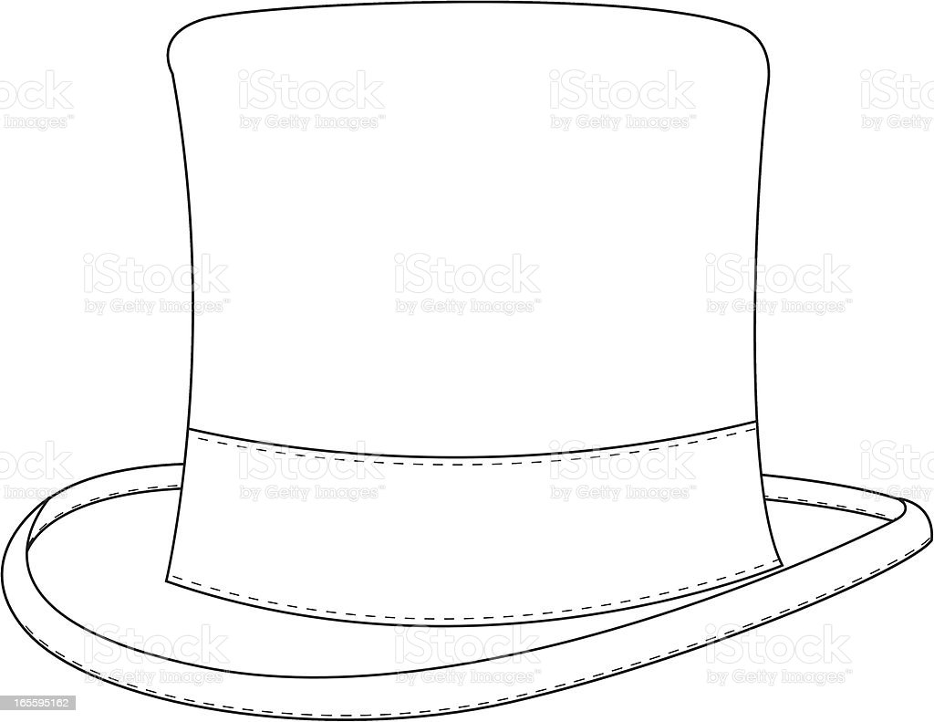 Classic Top Hat Template royalty-free stock vector art