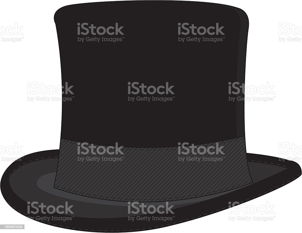 Classic Top Hat royalty-free stock vector art