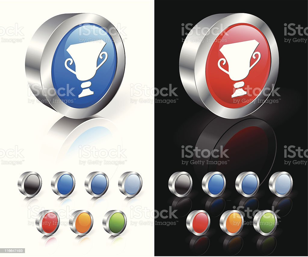 classic trophy 3D royalty free vector art royalty-free stock vector art