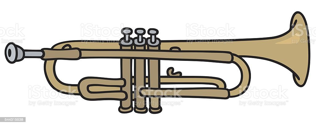 Classic trumpet vector art illustration