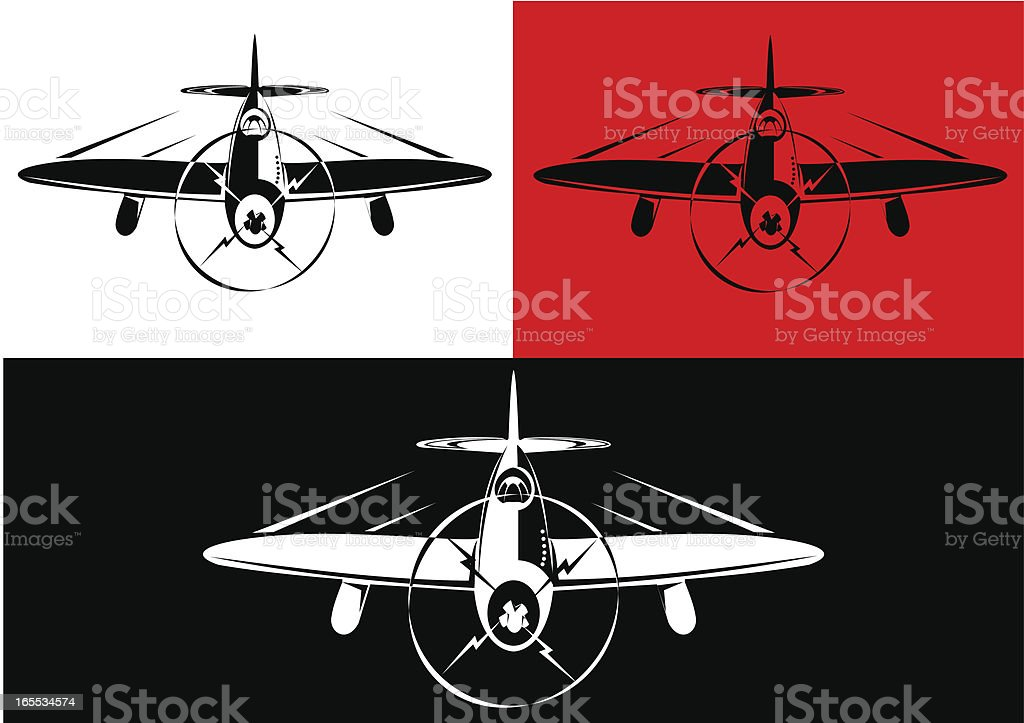 Classic war plane royalty-free stock vector art