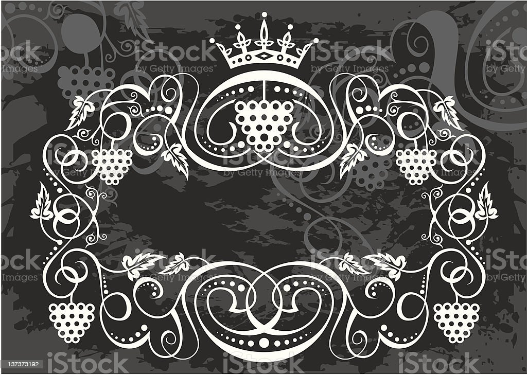 Classic wine frame royalty-free stock vector art