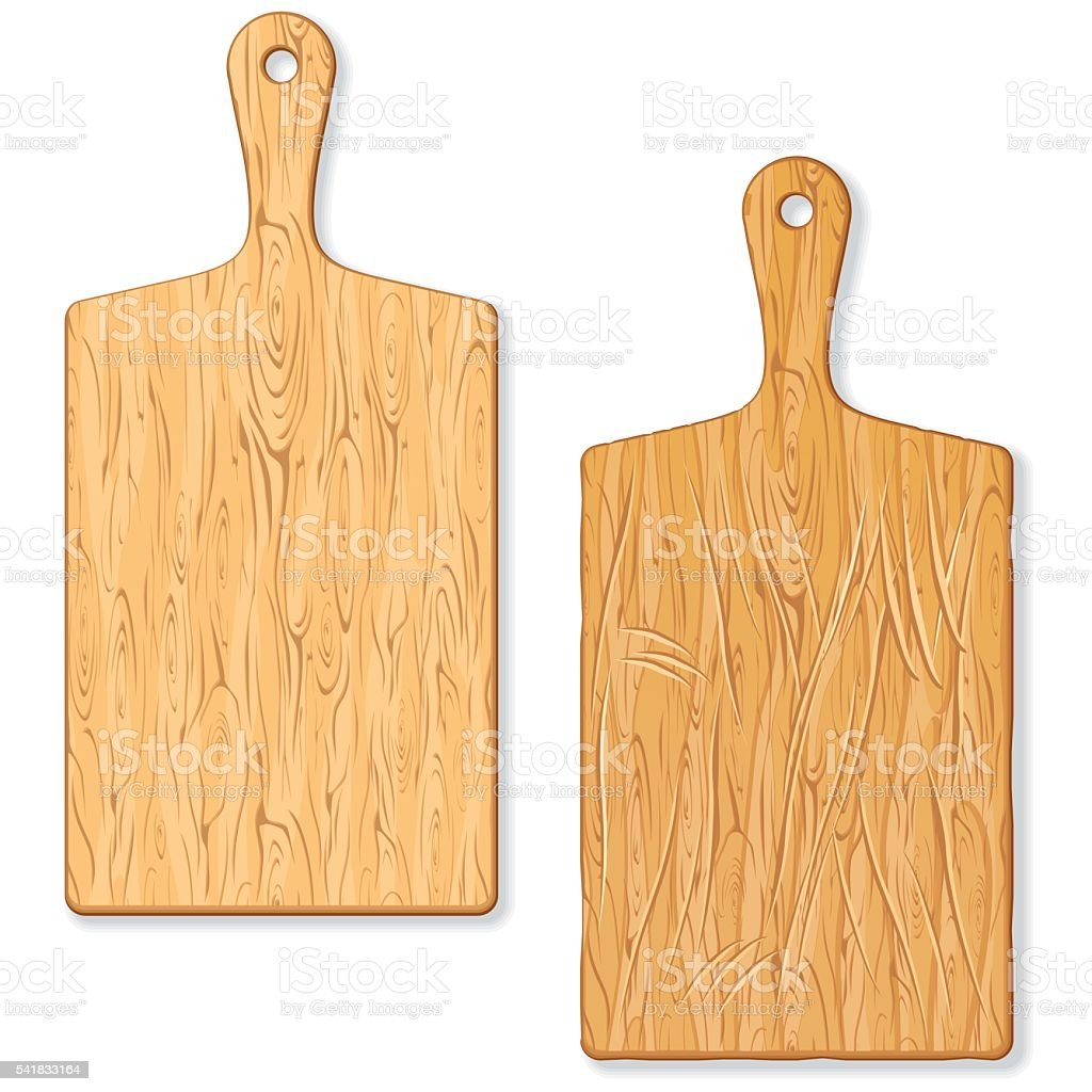 Classic Wooden Cutting or Chopping Board vector art illustration