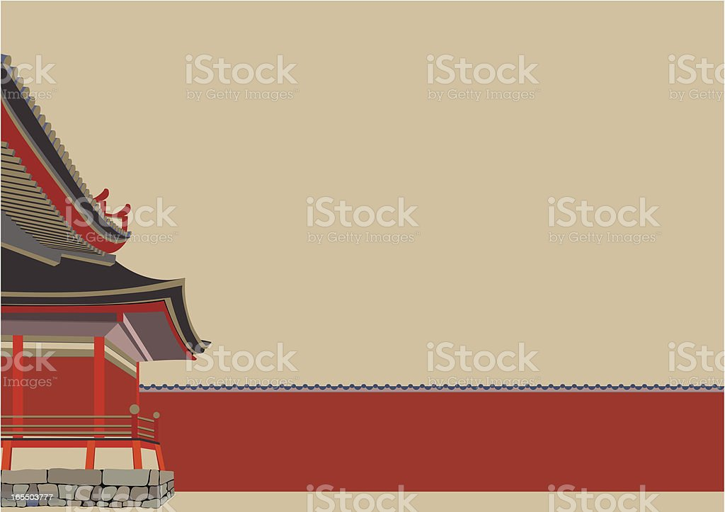 classical architecture china vector art illustration