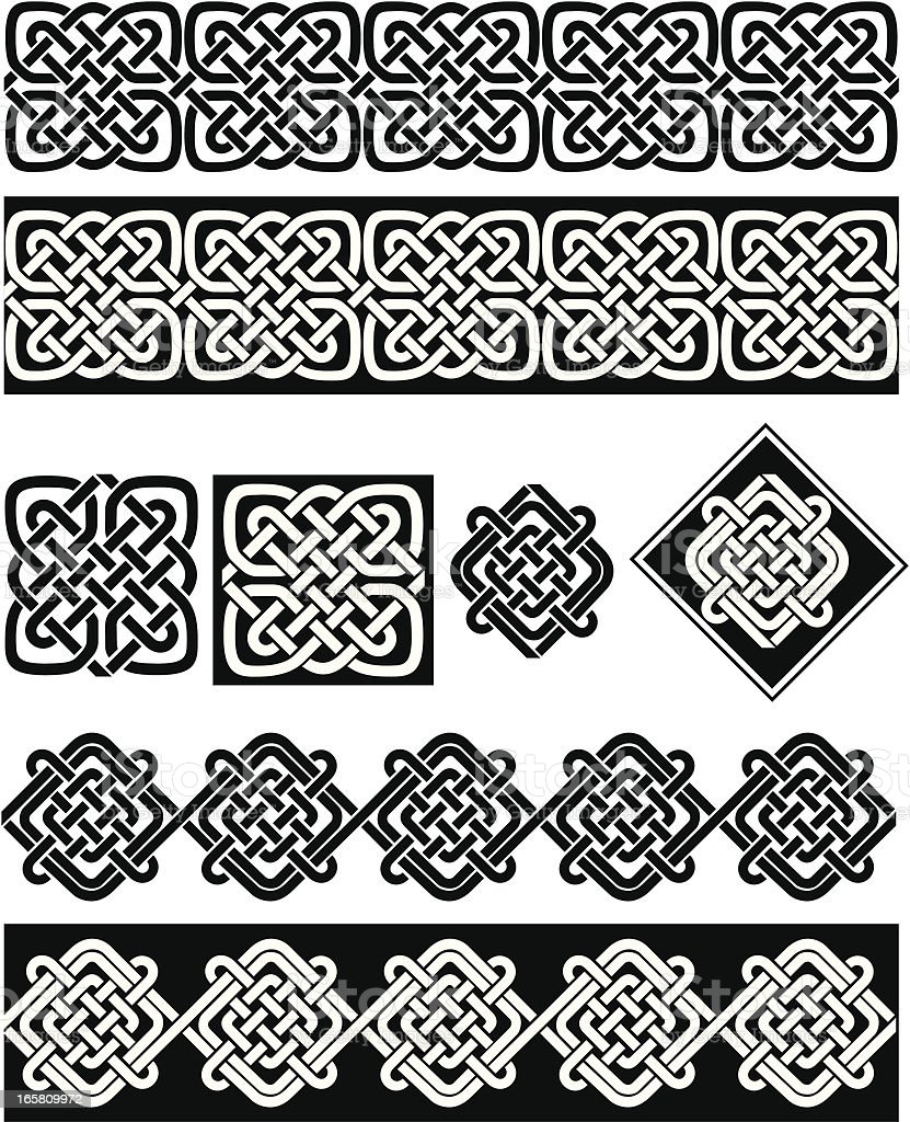 Classical Celtic Set royalty-free stock vector art