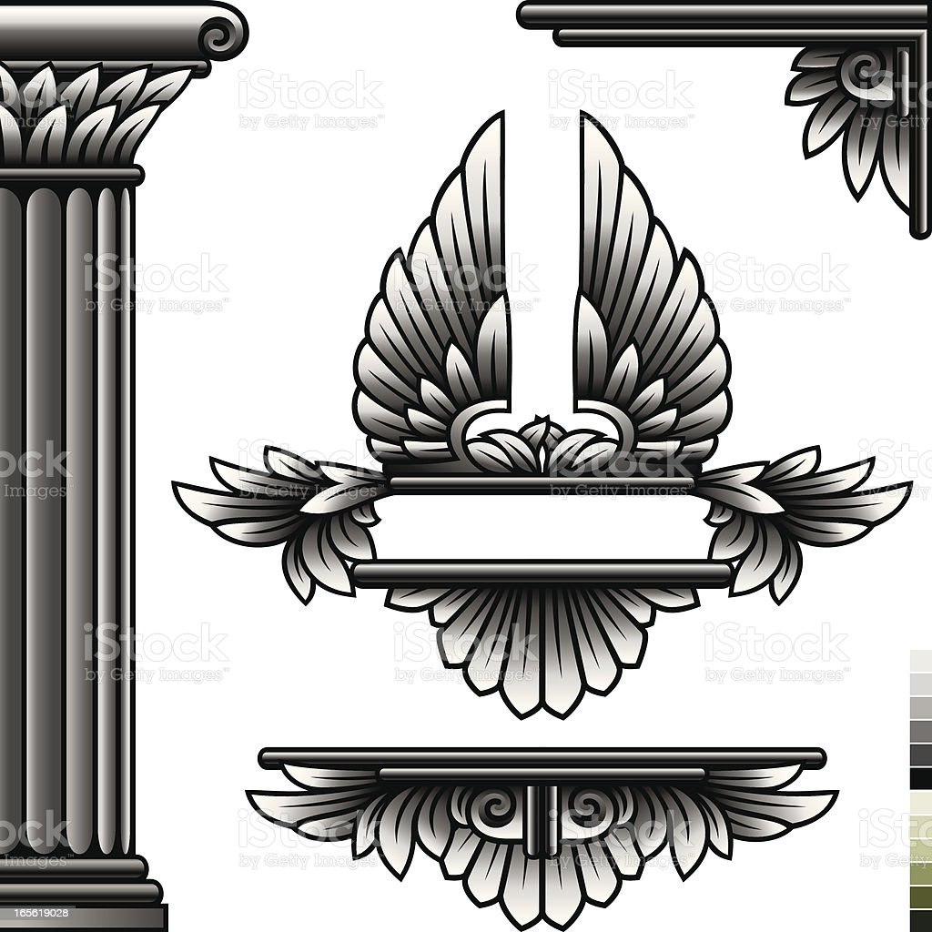 Classical Design Elements royalty-free stock vector art