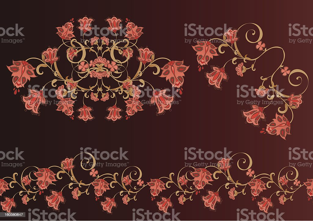classical floral elements royalty-free stock vector art