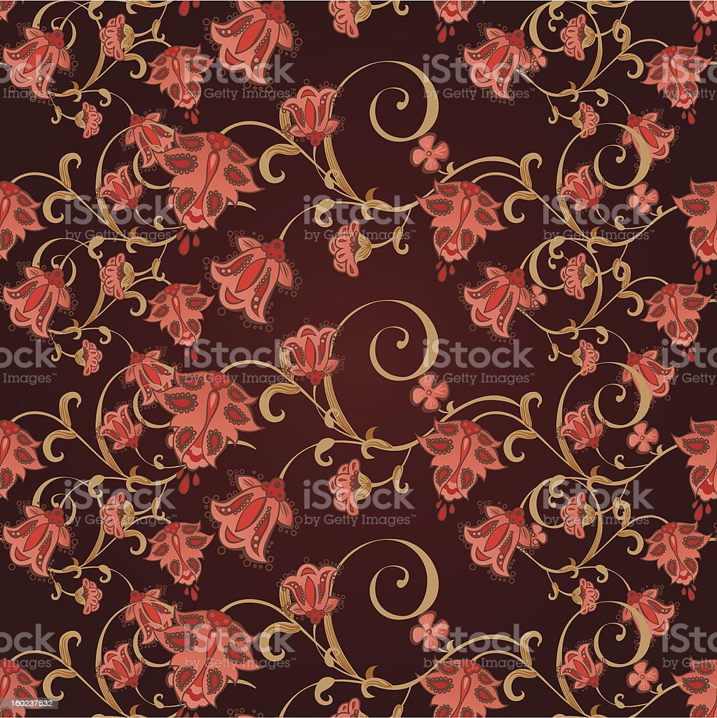 classical floral seamless royalty-free stock vector art