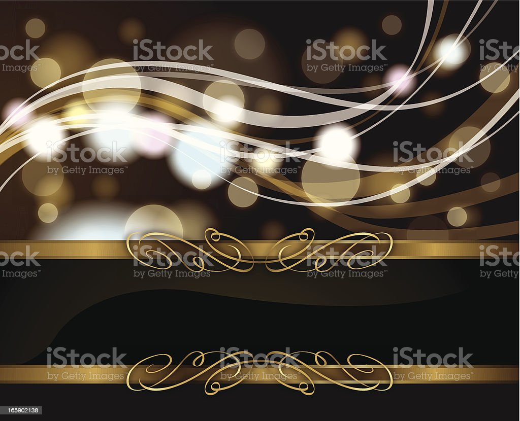 Classical Golden Waves royalty-free stock vector art