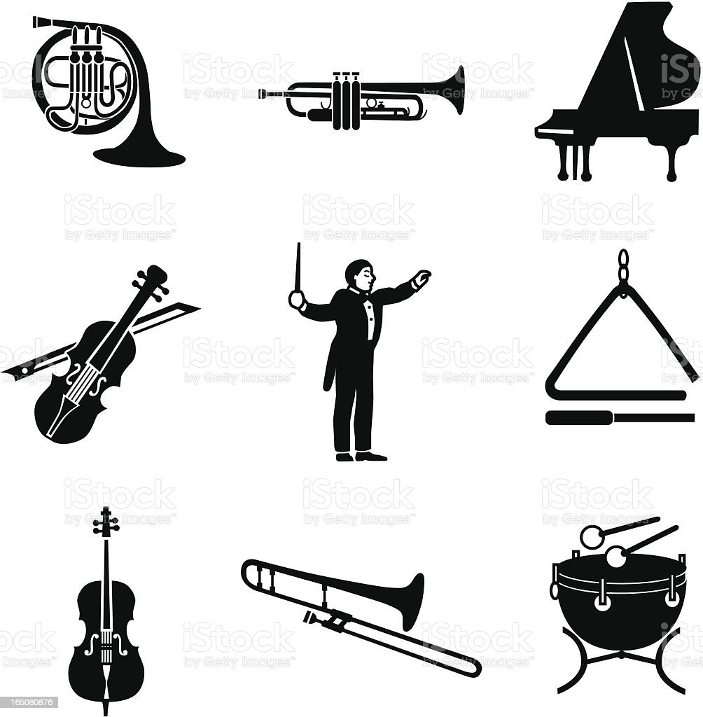 classical music icons royalty-free stock vector art