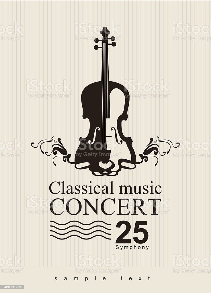 classical music vector art illustration