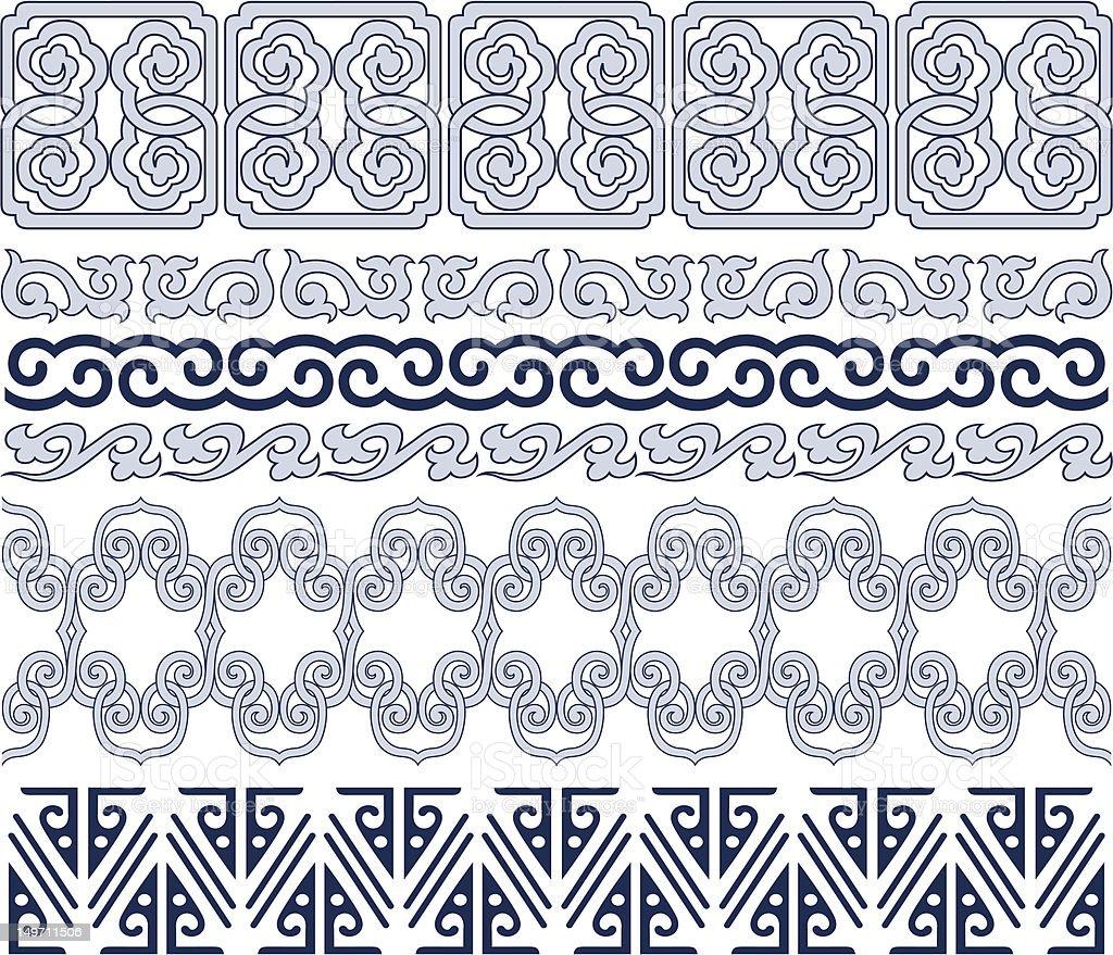 Classica bordo orientale illustrazione royalty-free
