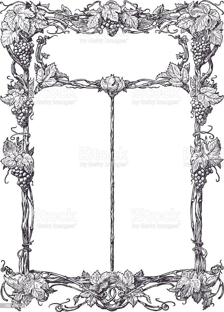 Classical vine border royalty-free stock vector art