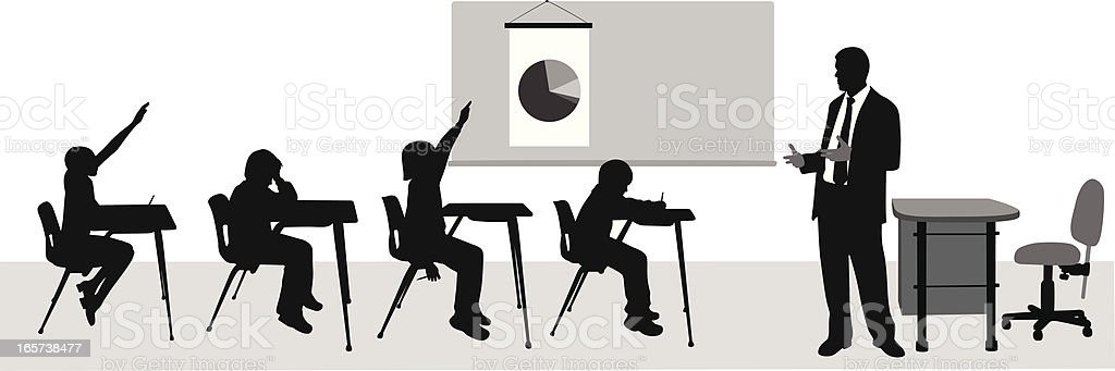 Class'n Kids Vector Silhouette royalty-free stock vector art