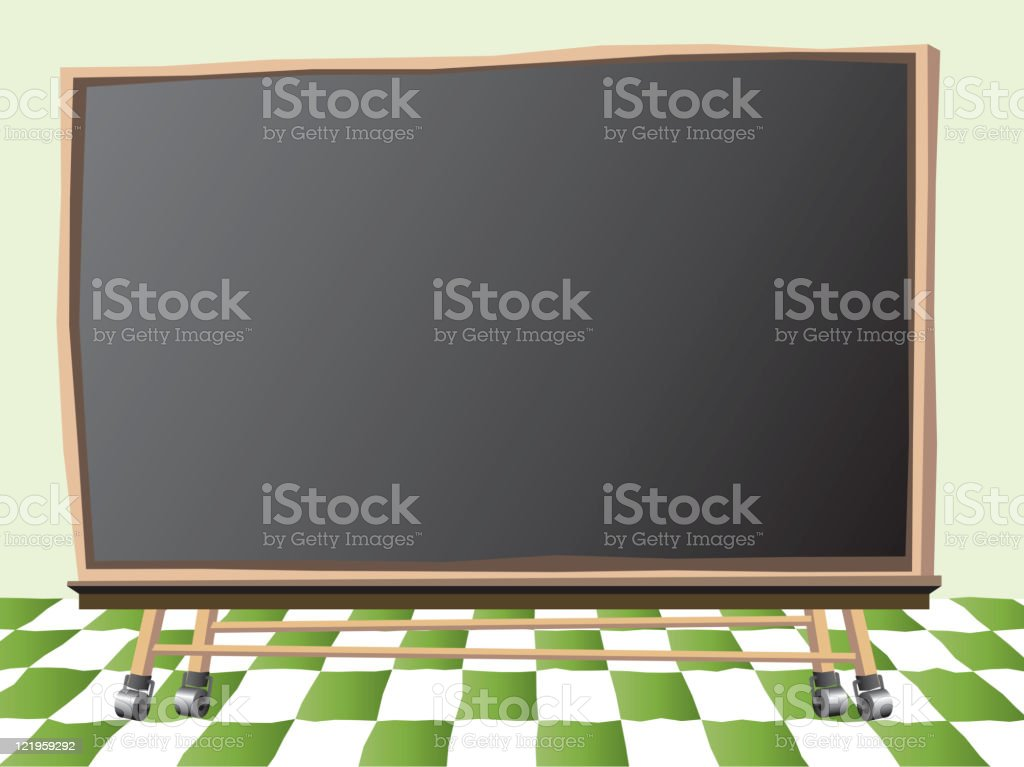 Classroom Chalkboard, Retro style royalty-free stock vector art