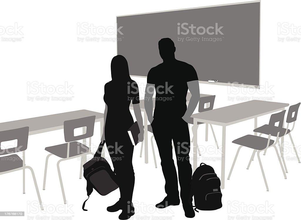 Classroom Couple royalty-free stock vector art
