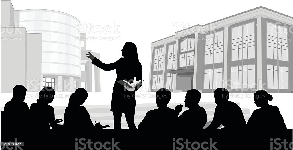 Classroom Presentation Technology vector art illustration