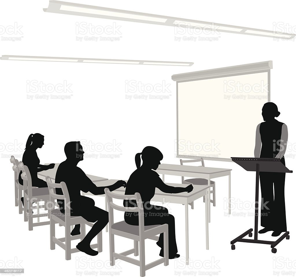 Classroom Teacher royalty-free stock vector art
