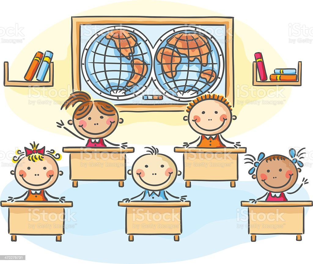 Classroom royalty-free stock vector art