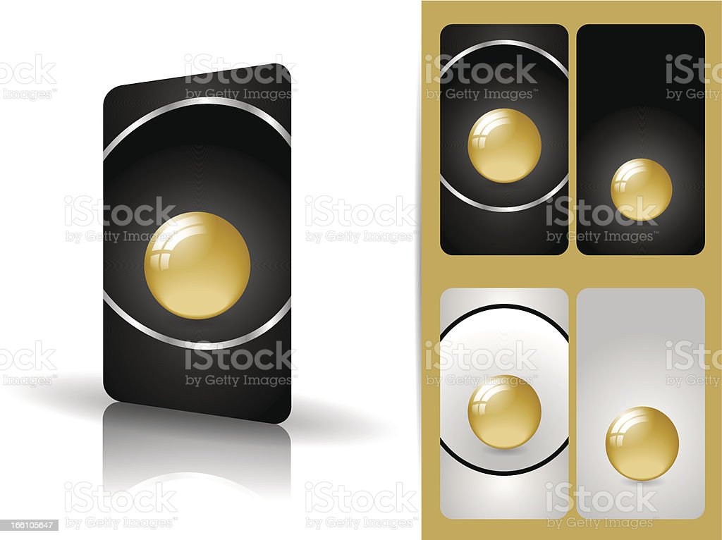 Classy black business cards royalty-free stock vector art