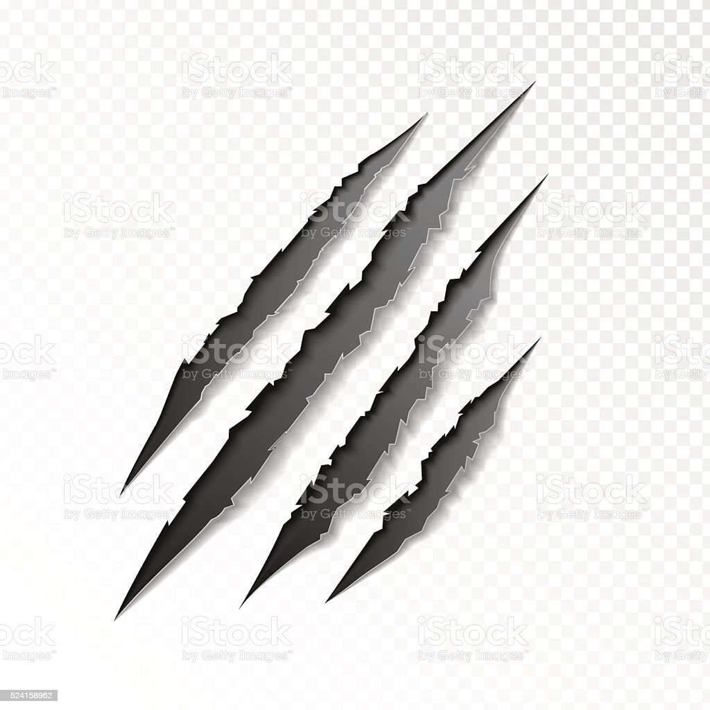 claws scratching animal vector art illustration