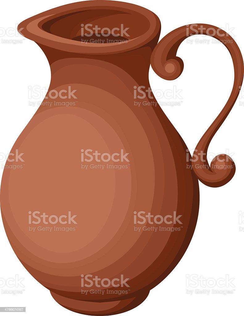 Clay jug. Vector illustration. vector art illustration