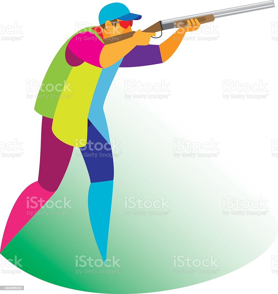 Clay Pigeon Shooting stock vector art 493996000 | iStock