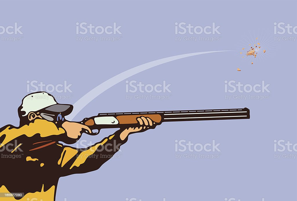 Clay Pigeon vector art illustration