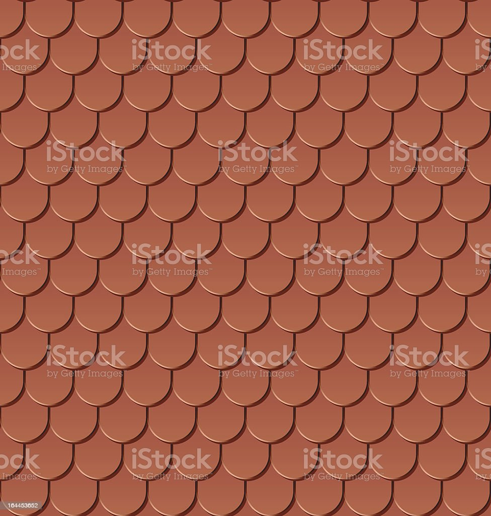 Clay roof tiles. vector art illustration
