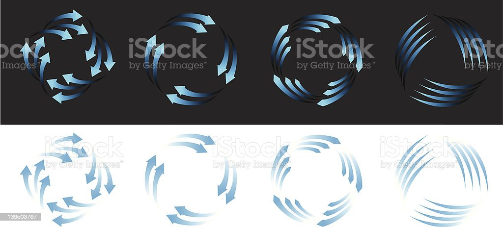 Clean Air Wind Power Icons royalty-free stock vector art