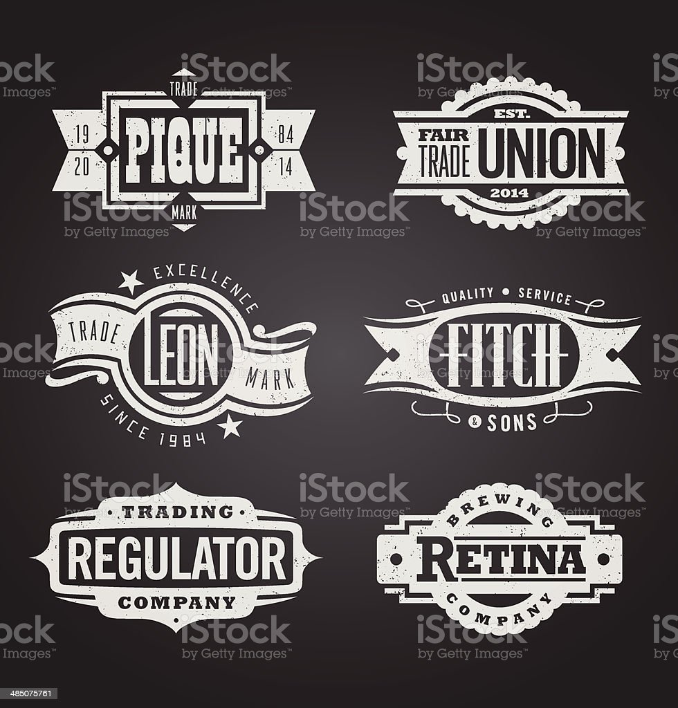 Clean and distressed retro vector grunge banners, seals and medallions vector art illustration
