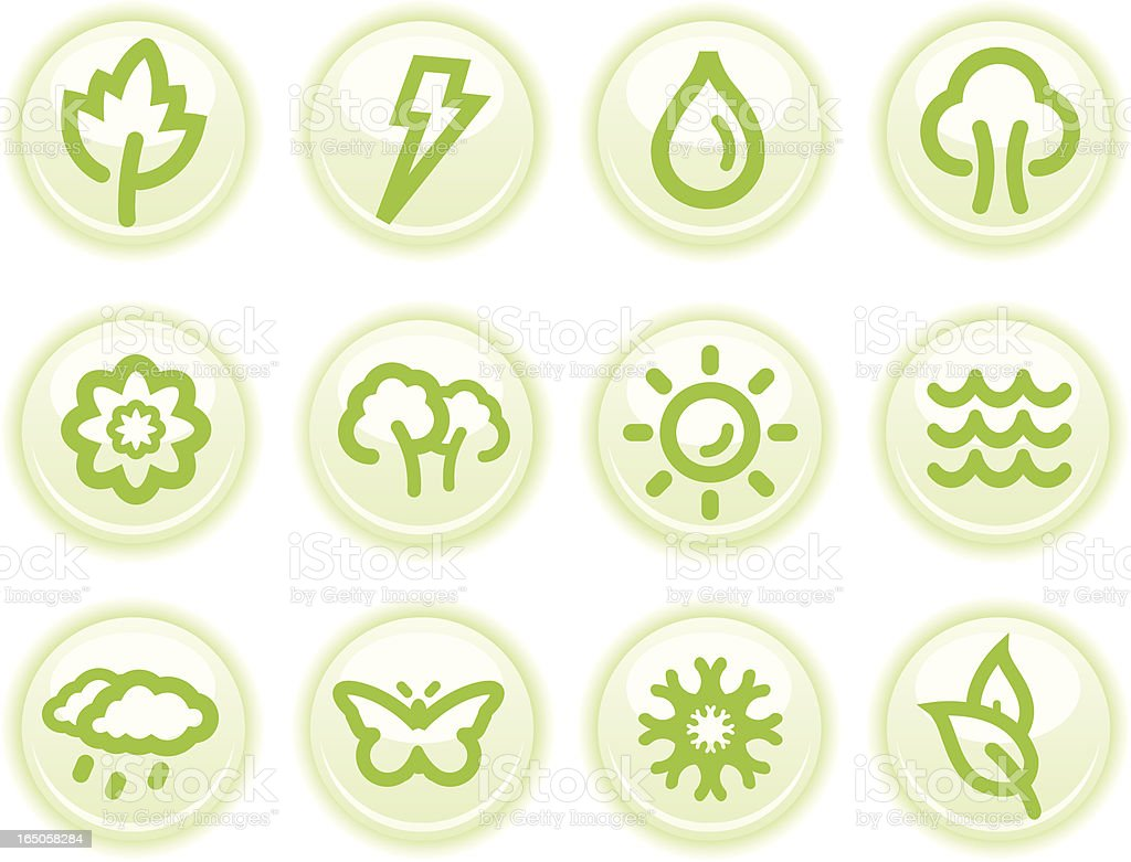 Clean and Green royalty-free stock vector art