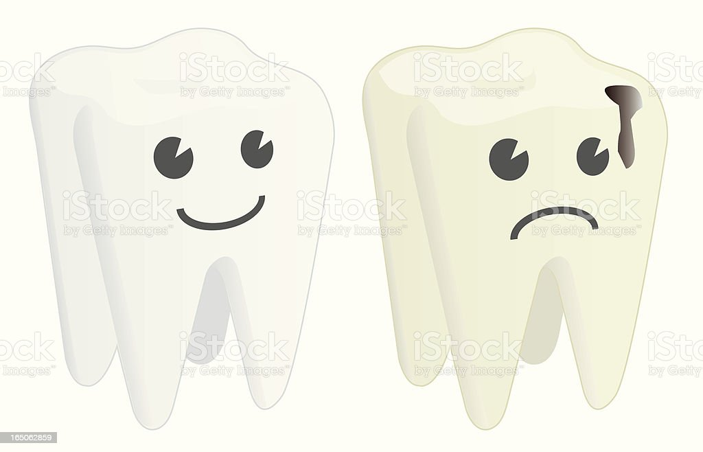 Clean / Cavity Tooth vector art illustration