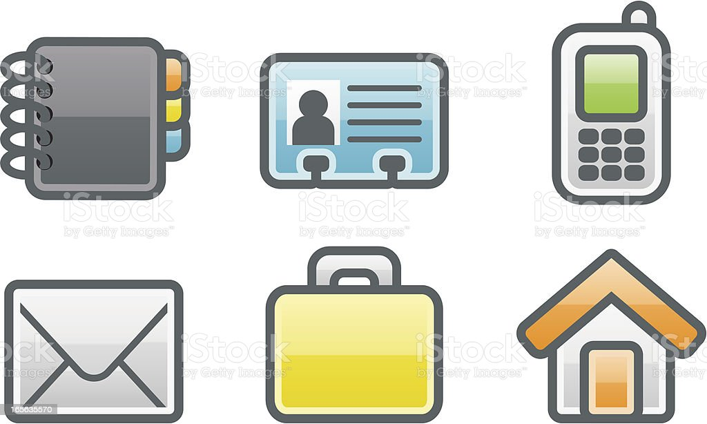 clean icons: address book royalty-free stock vector art