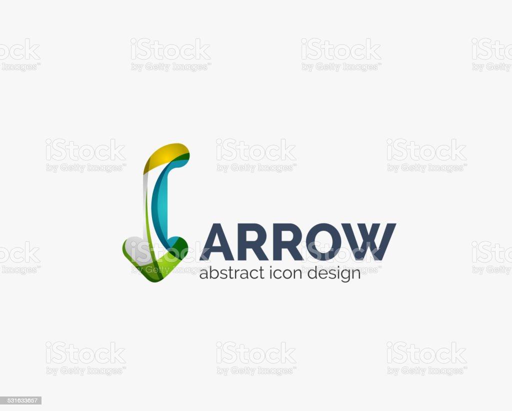 Clean moden wave design arrow icon vector art illustration