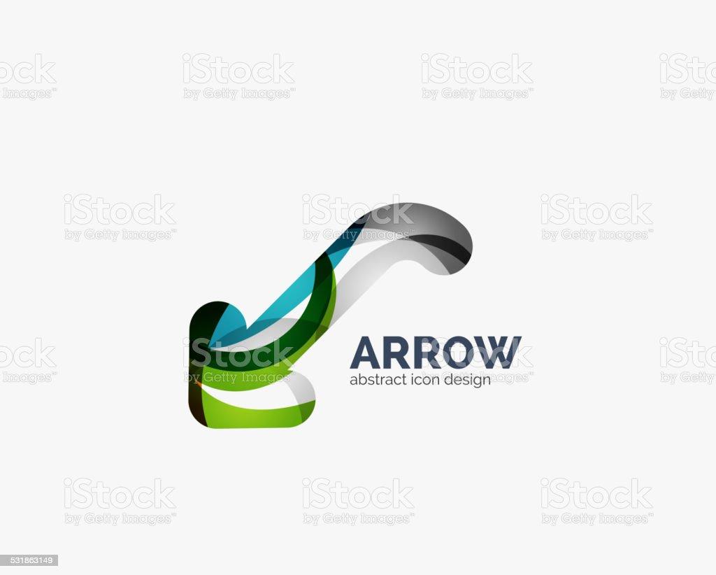 Clean moden wave design arrow logo vector art illustration