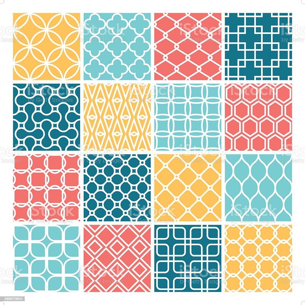 clean modern wallpaper set vector art illustration