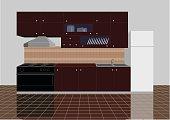 Clean new kitchen interior