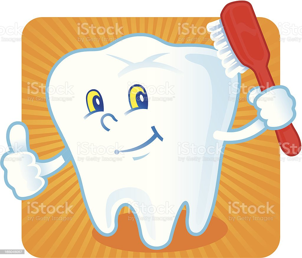 Clean Tooth royalty-free stock vector art