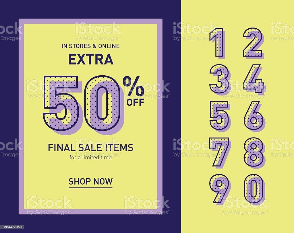Clean trendy sale banner template. Flat vector. vector art illustration