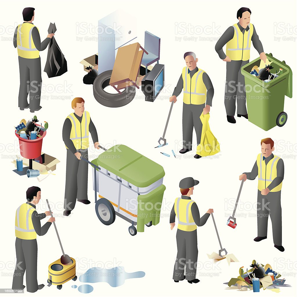Clean up Crew ISO royalty-free stock vector art
