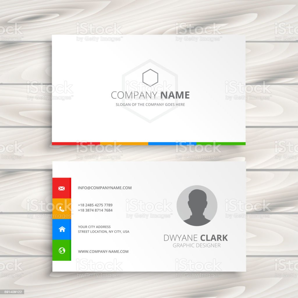 clean white business card vector art illustration
