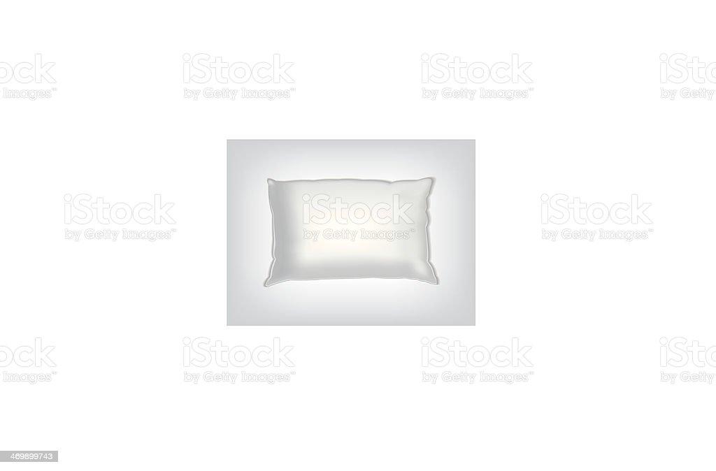 Clean white pillow mockup vector art illustration