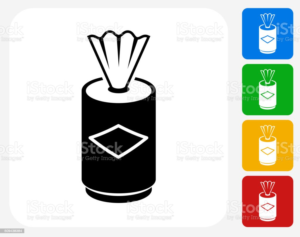 Clean Wipes Icon Flat Graphic Design vector art illustration