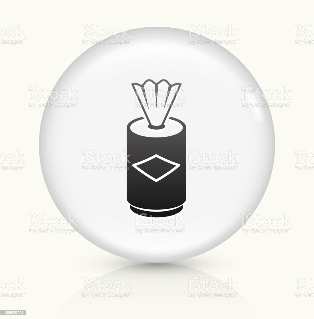 Clean Wipes icon on white round vector button vector art illustration